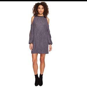Kensie faux suede size medium cold shoulder dress